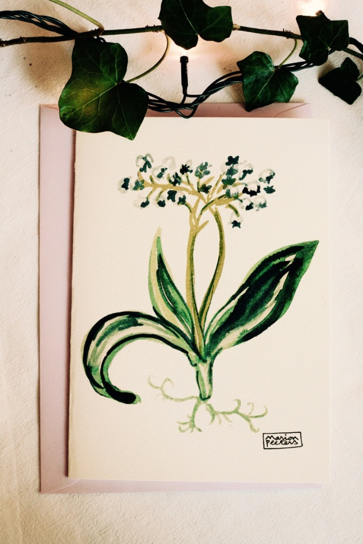 1#illustrationmarion peeters #cartesaquarelle#leverger#muguet