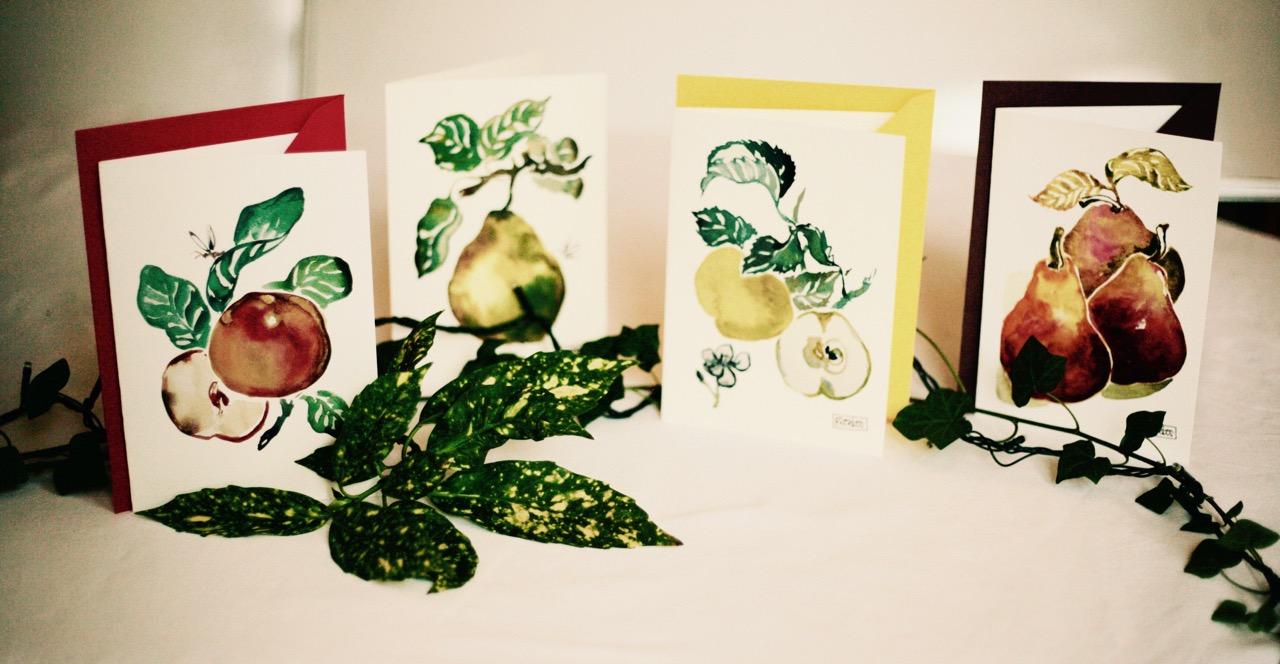 2#illustrationmarionpeeters #cartesaquarelle#leverger#fruits