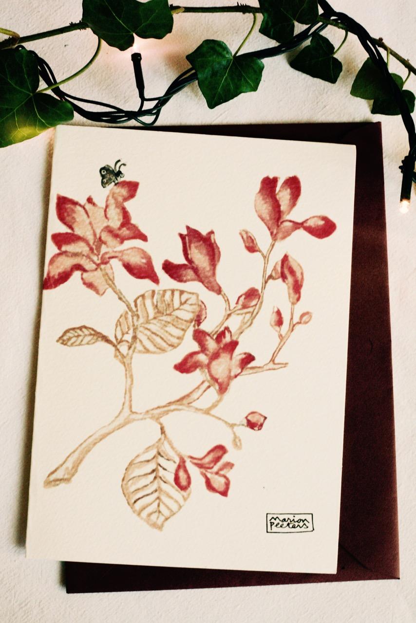 4#illustrationmarion peeters #cartesaquarelle#leverger#magnolia