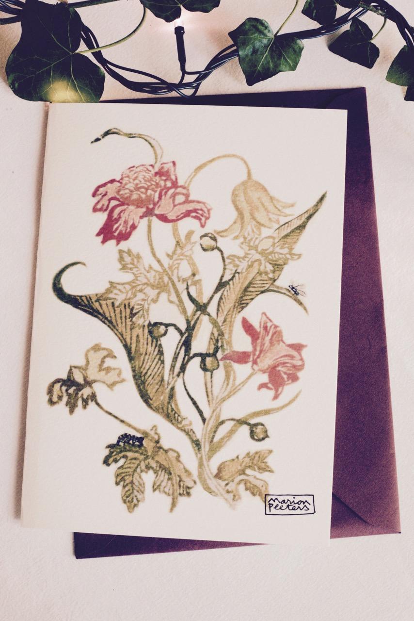 4#illustrationmarionpeeters #cartesaquarelle#leverger#tulipesanciennes