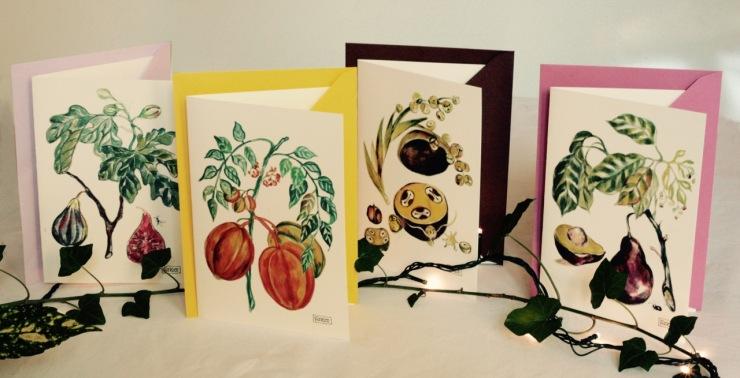 5#illustrationmarionpeeters #cartesaquarelle#jardinexotique