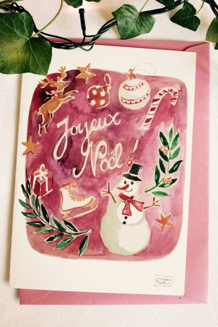 6#illustrationmarionpeeters #cartesaquarelle#recettes#noel