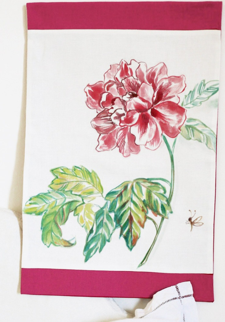 #illustrationpivoine, #tenturepivoine, #peintmain