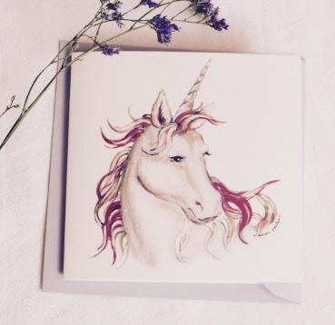 #illustrationmarionpeeters #cartesaquarelle#naissance#jouetsanciens#licorne
