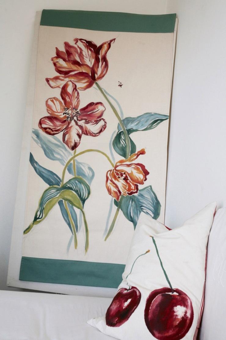 tenture tulipes