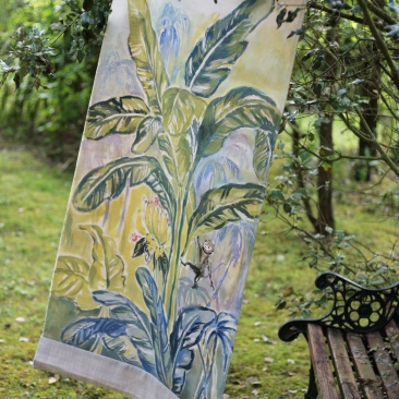 « bananier ouistiti » 70x150 cm – toile coton épaisse – 150€