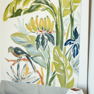 « bananier » 70x150 cm – toile coton épaisse – 150€