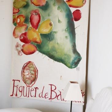 « figuier de barbarie » 70x150 cm – toile coton épaisse – 150€