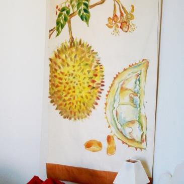 « durian » 70x150 cm – toile coton épaisse – 150€