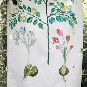 « épine du Christ » 90x180 cm – toile coton épaisse – 150€