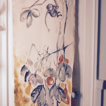 « ouistiti du Japon » 70x150 cm – toile métis – 150€