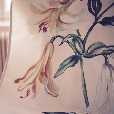 « lys » 70x150 cm – toile de coton épaisse – 150€