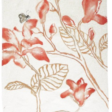 « magnolia » 70x150 cm – toile de coton épaisse – 150€