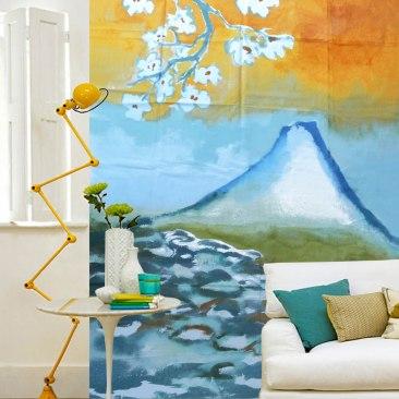 « mont Fujiyama » 180x200 cm – toile de coton épaisse – 250€