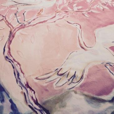 « oiseaux d'Orient » 100x180 cm – toile de coton métis – 200€