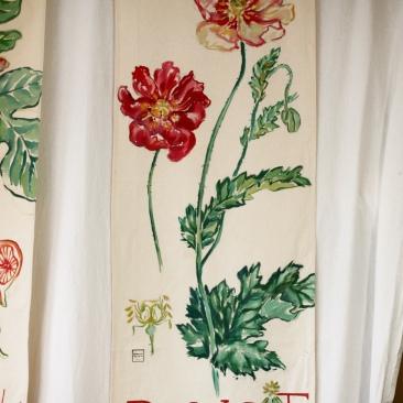 « pavot » 70x150 cm – toile de coton métis – 150€