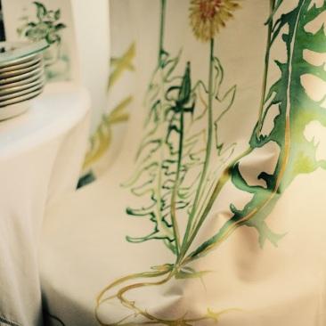 « pissenlit » 70x150 cm – toile de coton épaisse – 150€