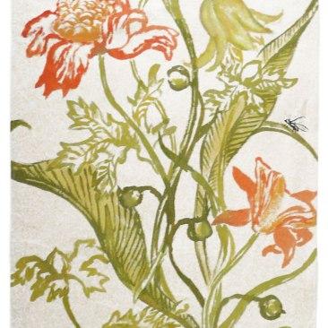 « tulipes perroquet » 70x150 cm – toile de coton épais – 150€